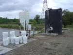 On-site growth of bacteria and nutrient feed